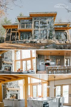 Lake House Plans, Mountain House Plans, Craftsman House Plans, Timber Frames, Timber Frame Homes, Timber House, Up House, House In The Woods, Cabin Design