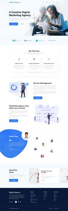 Minimalist, clean and modern Digital Marketing Agency best corporate website design idea inspiration example. Creative and trendy landing page web design. #webdesign #website #websitedesign