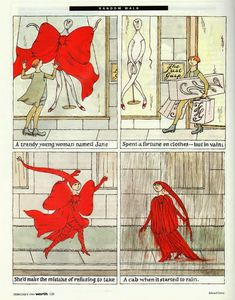 Published in the February 1994 issue of Worth Magazine, Random Walk   by Edward Gorey is a self contained story in four panels (see my p...