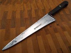 Forged Carbon Steel vtg Razor Sharp Solingen Germany Cutlery Chef Knife 8 blade