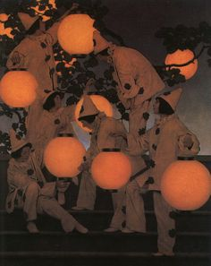 Maxfield Parrish, The Lantern Bearers (1908)  From crashinglybeautiful, melanne & procrastinations