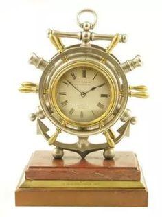 A novelty desk clock/barometer