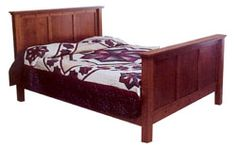 33% OFF Amish Furniture - Hand Crafted Shaker and Mission Furniture Online Outlet Store: Mission Square Bed: Oak