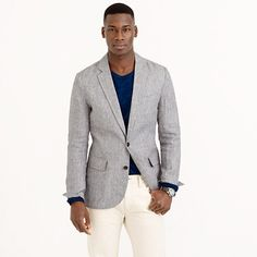 This version of the Ludlow sportcoat is woven in linen from Baird McNutt in Ireland (Irish linen is considered the best in the world and McNutt the best in Ireland) and is unconstructed. In other words, it's made without any of the internal canvasing and padding that give your suit jackets their precise silhouettes. This also means it's lighter and ideal for warm weather. Think of it as the kind of jacket that you throw over an armchair rather than put on a hanger, but it still looks…