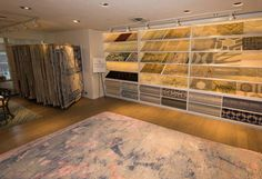 Stark's newly designed #contemporary NYC Showroom, featuring designer rugs…