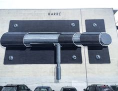 """Barred"" by Escif in Montreal, 2013 (LP)"