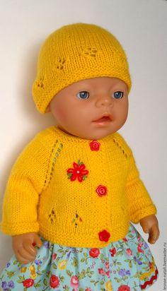 "Купить Комплект для беби бон ""Солнечный"" - желтый, одежда для беби бон, платье для беби бон"