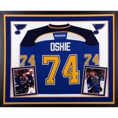 T.J. Oshie St. Louis Blues Autographed Framed Reebok Premier Jersey
