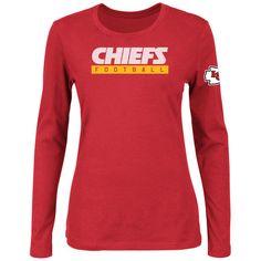 fe533bfca Majestic Kansas City Chiefs Women s Red Never Let It Rest Long Sleeve T- Shirt