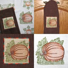 pumpkin vintage fall harvest embroidery and applique designs