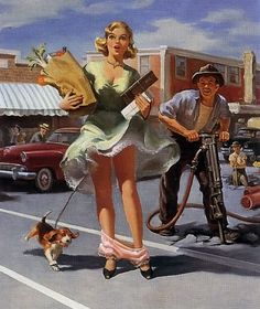 ART FRAHM, hilarious shtick this artist kept with a theme, however WEIRD that theme was, and still is! :-)
