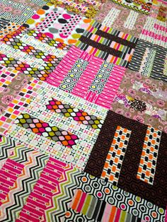 Cherry Ripe - S blocks (in Tula Pink's 100 Modern Quilt Blocks)
