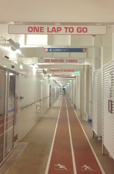Haha an awesome way to motivate people on Allure of the Seas!