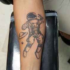 Astronaut by April @ Overtime Tattoo Shop in Lubbock TX