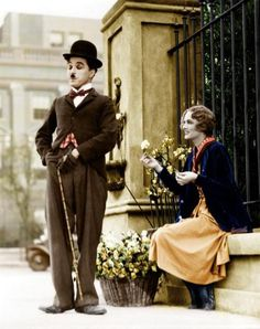 "Charles Chaplin & Virginia Cherrill ""City Lights"" 1931."