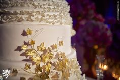Taglyan Complex:  Hollywood, Venue, Wedding Inspiration, Wedding Cake, Gold and White
