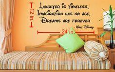 Walt Disney Laughter Imagination and Dreams by LaciesEmporium, $16.00