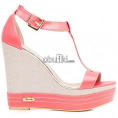 Bianki® Дамски кожени сандали на платформа в цвят корал 3288. За повече инфомация и поръчки --> http://obufki.com/Bianki-sandali-platforma-3288