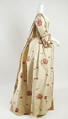 Dress (image 2) | British | 1750-75 | silk | Metropolitan Museum of Art | Accession Number: 1980.600a, b