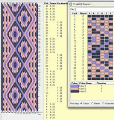 Hexagonal tablet weaving. Alternating full card turns.