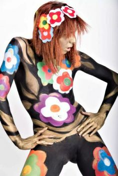 My body painting ...'70style ....photo by fabrizio biaggi ...model :vera