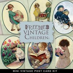 Vintage  Post-card Children Kit