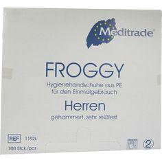 HANDSCHUHE Einmal Polyethylen Herren:   Packungsinhalt: 100 St Handschuhe PZN: 04444403 Hersteller: Dr. Junghans Medical GmbH Preis: 1,55…
