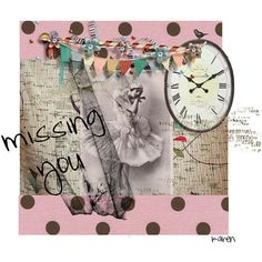 Missing You Digital Art Collage Card by HemeonArtworks on Etsy, $7.00