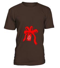 Christmas Maternity Bow Shirt For Pregnant Women S Funny Christmas T-shirt, Best Christmas T-shirt