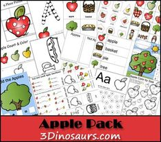 Free Fun Apple Pack from 3Dinosaurs.com