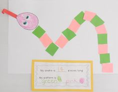 Making pattern snakes... perfect for celebrating the Year of the Snake!