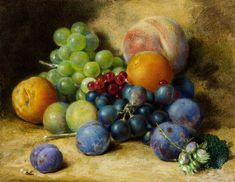 Famous Fruit Still Life Paintings Artists