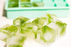 Herbal Cocktail to Try: Mint Ice Cubes for Moscow Mule
