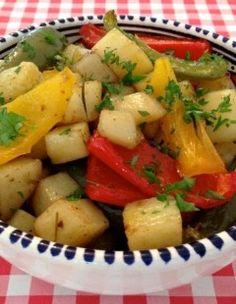 Aardappelen met paprika uit de oven | Het lekkerste recept vind je op AllesOverItaliaansEten