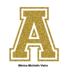Alphabets by Monica Michielin Bob Dylan, Printable Banner Letters, Golden Glitter, Gold Letters, Fonts, Inspiration, Ramadan, Scrapbook, Alphabet