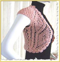 Free Crochet Shrug Patterns for Women | Custom - Pearl Pal Shrug--finished product - vintage crochet patterns ...
