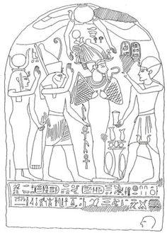 Stèle au nom d'Osorkon II. Bubastis.
