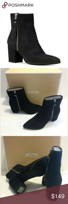 """🆕Michael Kors Suede Booties These suede booties have a fashion-forward silhouette that will have you looking stylish any day of the week! Features side zipper and 2-3/4"""" heel. According to the manufacturer, the fit runs true to size. Michael Kors Shoes Ankle Boots & Booties"""