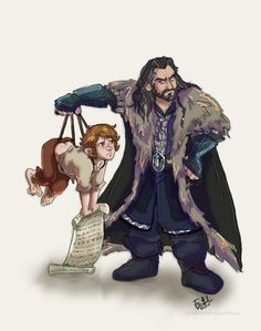 Something to smile about...Another great piece if artwork..Happy Saturday everyone..#Thorin #TheHobbit #onelasttime
