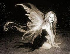 Fairy photo bnw