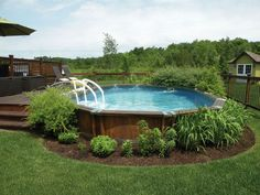 Getting an above ground pool for your home is a big decision but isn't a difficult problem if you know it. You must know about information best pool to your limited time and budget. Here We've provide a list of above ground pool ideas with decks and some Oberirdischer Pool, Above Ground Swimming Pools, Swimming Pools Backyard, In Ground Pools, Semi Inground Pools, Diy Pool, Small Pool Backyard, Small Swimming Pools, Intex Pool