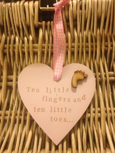 Items similar to Keepsake baby heart plaques. on Etsy Graffiti Quotes, Wooden Hearts, New Baby Products, Finger, My Etsy Shop, Place Card Holders, Hand Painted, Messages, Gift Ideas
