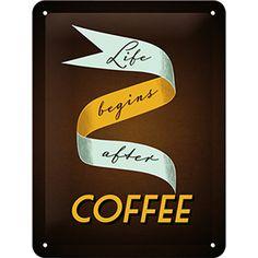 ALTINCI CADDE - KAMPANYA - Life Begins After Coffee Pin Up Duvar Panosu