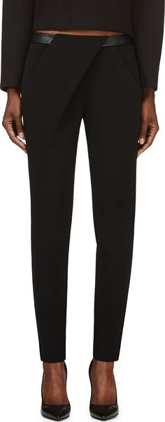 Dion Lee - Black Compact Stretch Exit Trousers