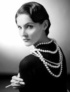 Coco Chanel. The look ,not the designer.