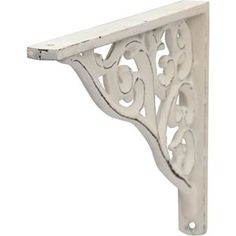 For the shelf above the door - Distressed Baroque Bracket - White from Homebase.co.uk