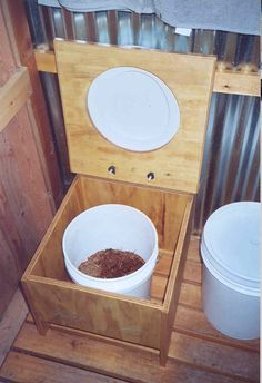 Outdoor composting toilet-good alternative for grid-down situation.