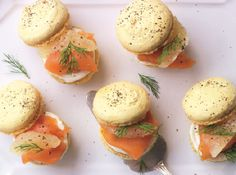 Lemon and Pepper Macarons with Smoked Salmon by Eric Lanlard