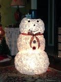 My own personal coffee filter snowman!