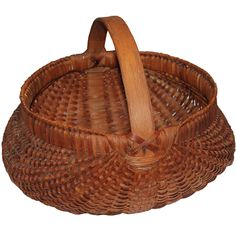 Monumental 19th Century Hiney Basket from Pennsylvania from the third quarter of the 19th century.